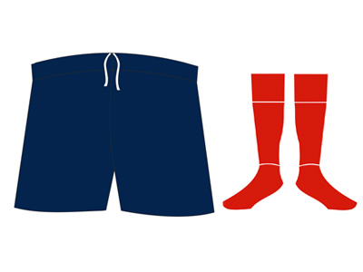 AFL Shorts and socks