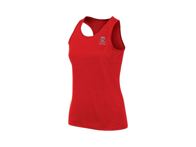 Red Athletic Running Singlets 01