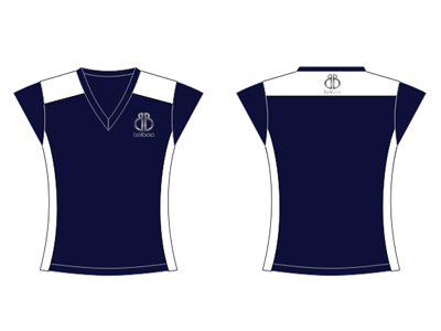 Black & White Netball Playing Shirts