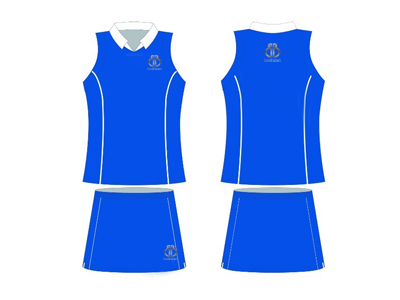 Blue Netball Two Pieces